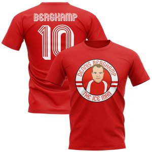 Dennis Bergkamp Arsenal Illustration T-Shirt (Red)