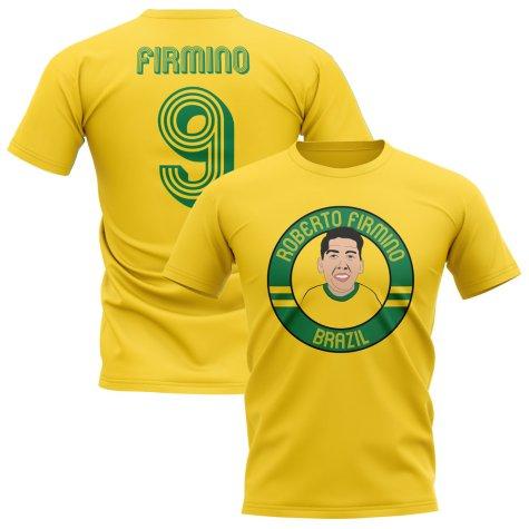 Roberto Firmino Brazil Illustration T-Shirt (Yellow)