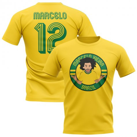 Marcelo Brazil Illustration T-Shirt (Yellow)