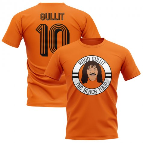 Ruud Gullit Holland Illustration T-Shirt (Orange)