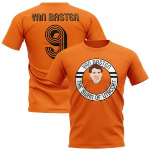 Marco Van Basten Holland Illustration T-Shirt (Orange)