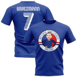 Antoine Griezmann France Illustration T-Shirt (Blue)