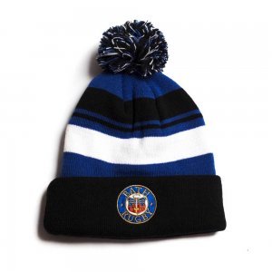 2018-2019 Bath Rugby Acrylic Bobble Hat Beanie (Anthracite)