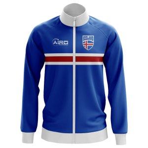 Iceland Concept Football Track Jacket (Blue) - Kids