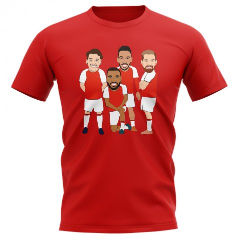 Arsenal Players Illustration T-Shirt (Red)