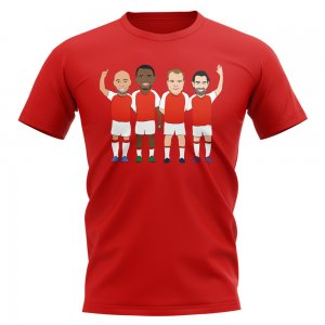 Arsenal Invincibles Players Illustration T-Shirt (Red)
