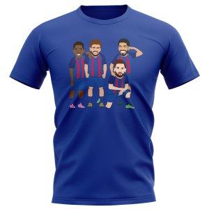 Barcelona Players Illustration T-Shirt (Blue)