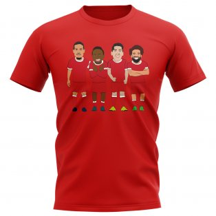 Liverpool Players Illustration T-Shirt (Red)