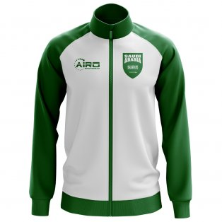 Saudi Arabia Concept Football Track Jacket (White) - Kids