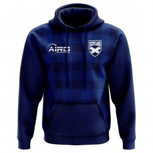 2020-2021 Scotland Tartan Concept Football Hoody (Kids)