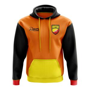 Bhutan Concept Country Football Hoody (Orange)