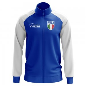 Italy Concept Football Track Jacket (Blue) - Kids
