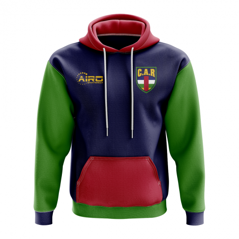 Central African Republic Concept Country Football Hoody (Navy)