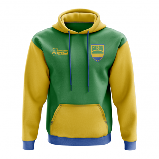 Gabon Concept Country Football Hoody (Green)