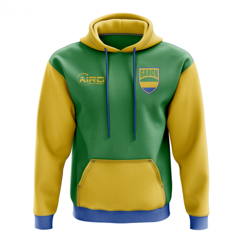 Gabon Concept Country Football Hoody (Green)
