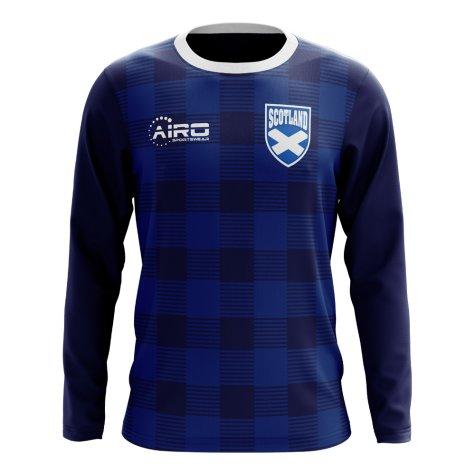 2020-2021 Scotland Long Sleeve Tartan Concept Football Shirt (Kids)