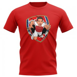 Lucas Torreira Arsenal Superhero T-Shirt (Red)