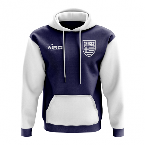 Greece Concept Country Football Hoody (Navy)