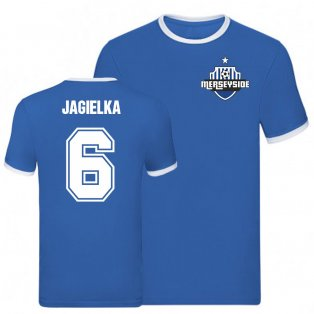 Phil Jagielka Everton Ringer Tee (Blue)