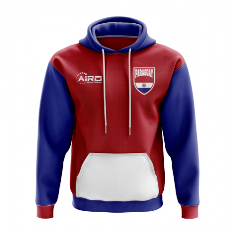 Paraguay Concept Country Football Hoody (Red)