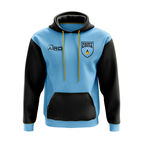 Saint Lucia Concept Country Football Hoody (Sky)