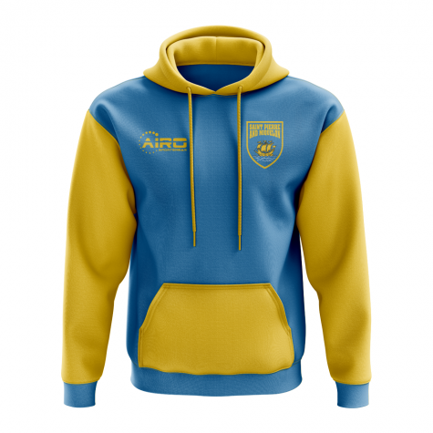 Saint Pierre and Miquelon Concept Country Football Hoody (Sky)