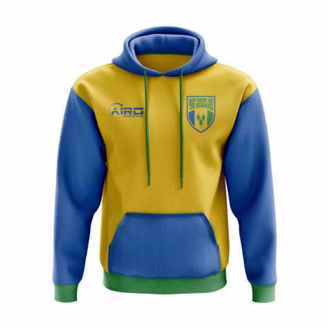 Saint Vincent And The Grenadines Concept Country Football Hoody (Yellow)