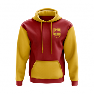 Spain Concept Country Football Hoody (Red)