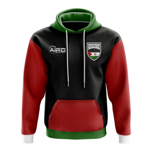 Western Sahara Concept Country Football Hoody (Black)