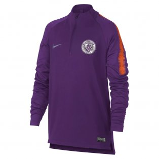 2018-2019 Man City Nike Squad Drill Training Top (Purple) - Kids