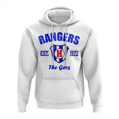 Rangers Established Football Hoody (White)