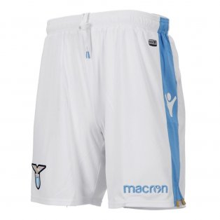 2018-2019 Lazio Macron Away Shorts (White) - Kids