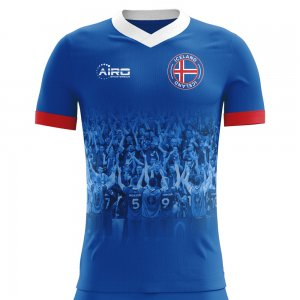2020-2021 Iceland Supporters Home Concept Football Shirt - Little Boys