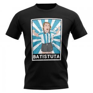 Gabriel Batistuta Argentina Legend Series T-Shirt (Black)