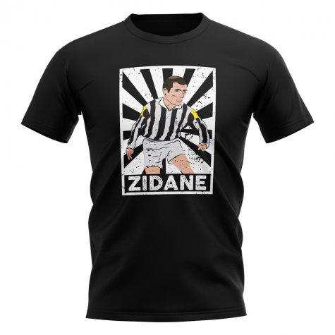 Zinedine Zidane Juventus Legend Series T-Shirt (Black)
