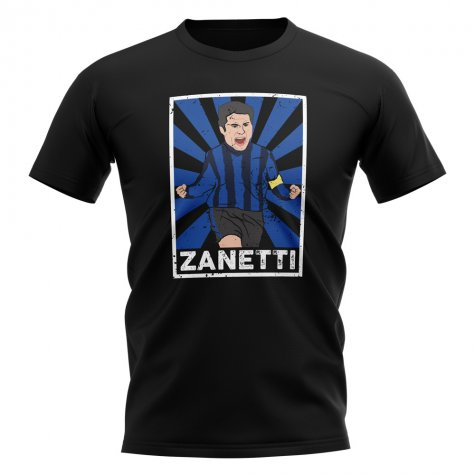 Javier Zanetti Inter Milan Legend Series T-Shirt (Black)
