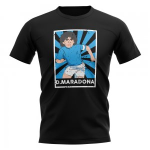Diego Maradona Napoli Legend Series T-Shirt (Black)