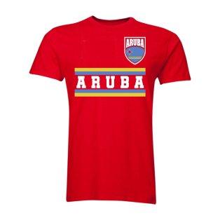 Aruba Core Football Country T-Shirt (Red)
