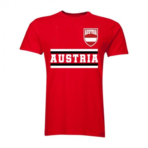 Austria Core Football Country T-Shirt (Red)