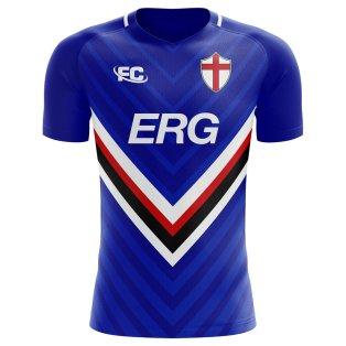 2018-2019 Sampdoria Fans Culture Home Concept Shirt (Kids)