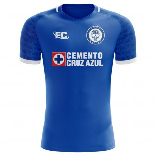 2018-2019 Cruz Azul Fans Culture Home Concept Shirt - Little Boys