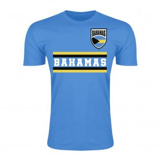 Bahamas Core Football Country T-Shirt (Sky)