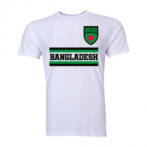 Bangladesh Core Football Country T-Shirt (White)