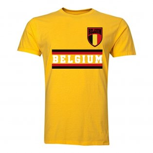 Belgium Core Football Country T-Shirt (Yellow)