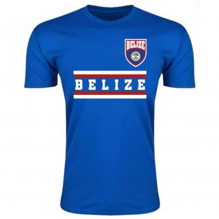 Belize Core Football Country T-Shirt (Blue)