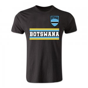 Botswana Core Football Country T-Shirt (Black)
