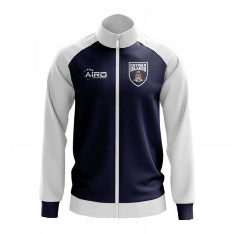Cayman Islands Concept Football Track Jacket (Navy) - Kids