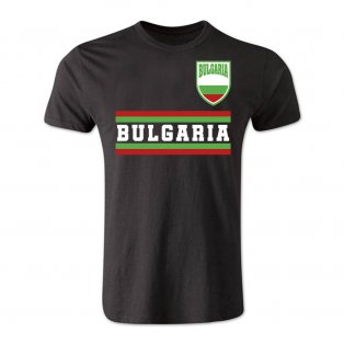 Bulgaria Core Football Country T-Shirt (Black)