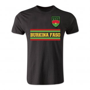 Burkina Faso Core Football Country T-Shirt (Black)