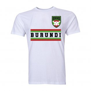 Burundi Faso Core Football Country T-Shirt (White)